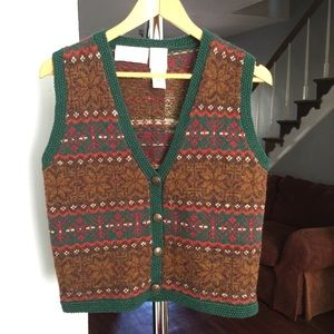 Lord & Taylor Wool Sweater Vest